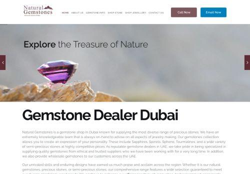 لقطة شاشة لموقع Natural Gemstones Dubai بتاريخ 30/03/2021 بواسطة دليل مواقع الدليل