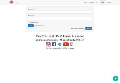 لقطة شاشة لموقع Smm socialmedia بتاريخ 16/04/2021 بواسطة دليل مواقع الدليل