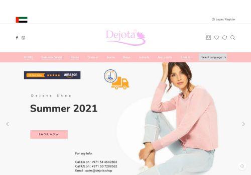 لقطة شاشة لموقع ديجوتا لتجارة الملابس الجاهزة بتاريخ 05/05/2021 بواسطة دليل مواقع الدليل
