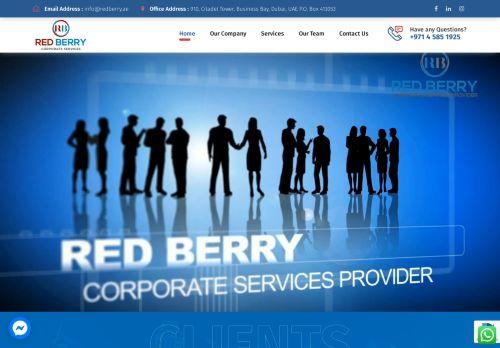لقطة شاشة لموقع Red Berry Corporate Services بتاريخ 28/07/2021 بواسطة دليل مواقع الدليل