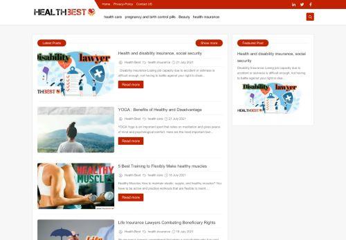 لقطة شاشة لموقع Health Best   Win The Best بتاريخ 02/08/2021 بواسطة دليل مواقع الدليل