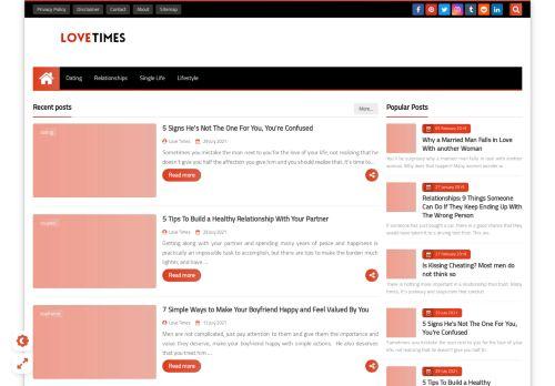 لقطة شاشة لموقع Love Times بتاريخ 05/08/2021 بواسطة دليل مواقع الدليل