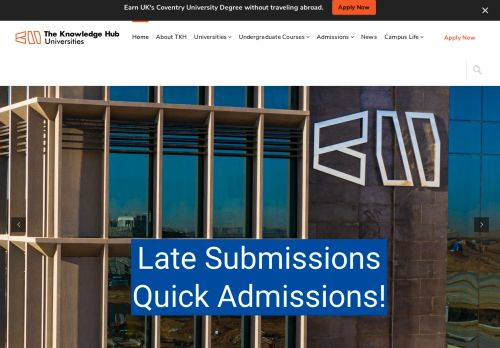 لقطة شاشة لموقع The Knowledge Hub Universities بتاريخ 09/09/2021 بواسطة دليل مواقع الدليل