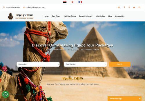 لقطة شاشة لموقع TripEgyTours بتاريخ 20/09/2020 بواسطة دليل مواقع الدليل