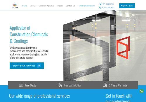 لقطة شاشة لموقع CONCHEM للخدمات التقنية بتاريخ 22/10/2020 بواسطة دليل مواقع الدليل