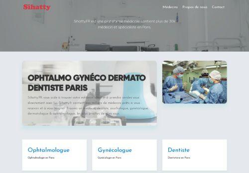 لقطة شاشة لموقع أطباء فرنسا بتاريخ 19/01/2021 بواسطة دليل مواقع الدليل