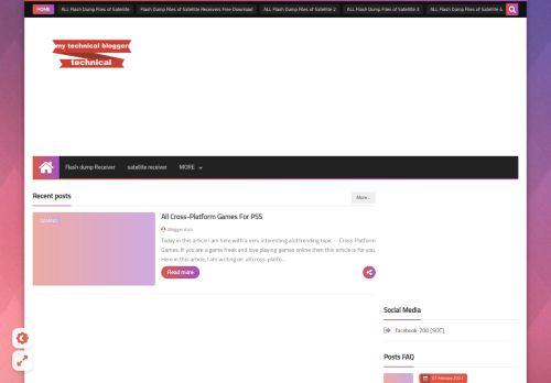 لقطة شاشة لموقع my technical blogger بتاريخ 01/03/2021 بواسطة دليل مواقع الدليل